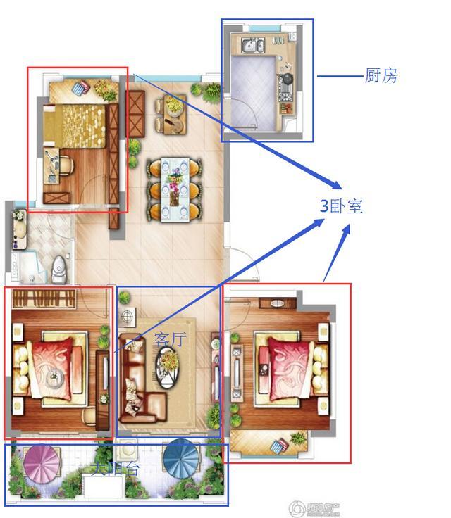 长方形住卧室设计图展示图片