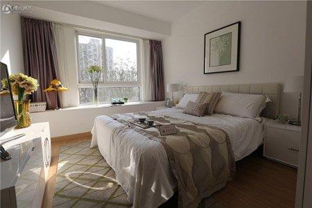 次卧设计静谧,保护私人空间,飘窗设计精巧图片