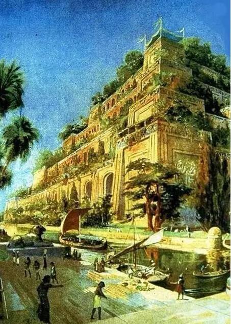 传说中的古巴比伦空中花园-再现两千多年前建筑奇观 碧桂园森林城市.图片