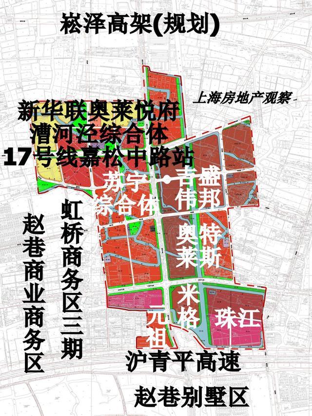 赵巷商业商务区土地规划图