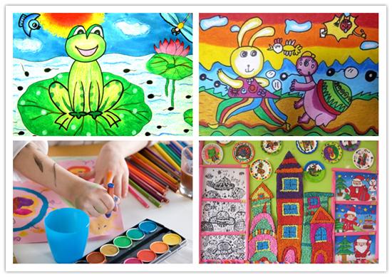 龟兔赛跑,小蝌蚪找妈妈等一些耳熟能详的故事,都是孩子们发挥创意的图片