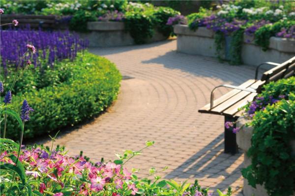 采用新法式景观小品与对称空间设计,将乔木,灌木,绿篱,花卉等近百种花图片