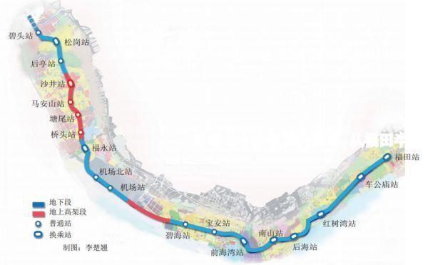 深圳地铁11号线线路图 看看有没有站点到你家图片
