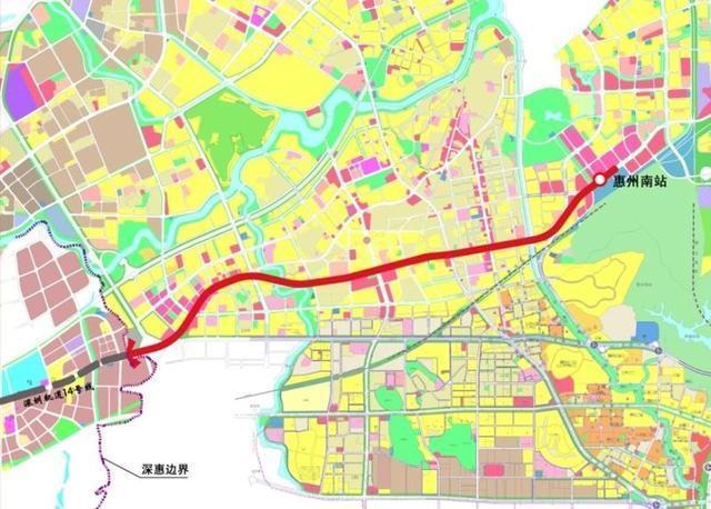 惠州将建地铁接驳深圳14号线 线路规划走向出炉