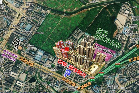 除此之外,500米近距离范围内的配套设施,主要以陈旧的农民房,工厂图片