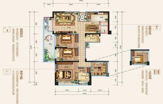 中轴长廊设计,在享受礼序空间的同时,更打造出动静分区,干湿分离的图片