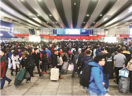 日发送旅客近30万 深圳北站限时进站