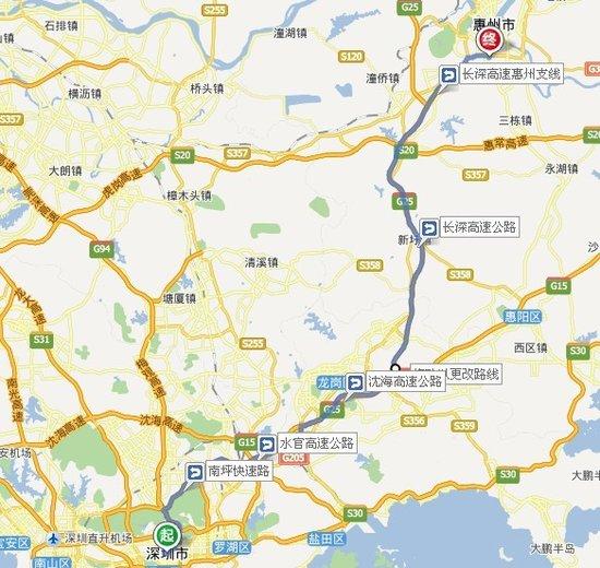 大深圳三环地图