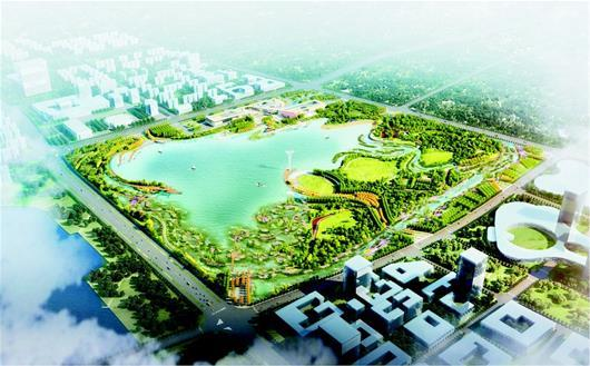 江夏开建新城区最大公园