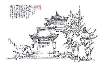本地 正文  这130幅武汉老房子钢笔画速写,笔法流畅,韵味独特,是