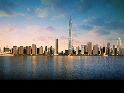 世界第三高楼春节\长\出地面