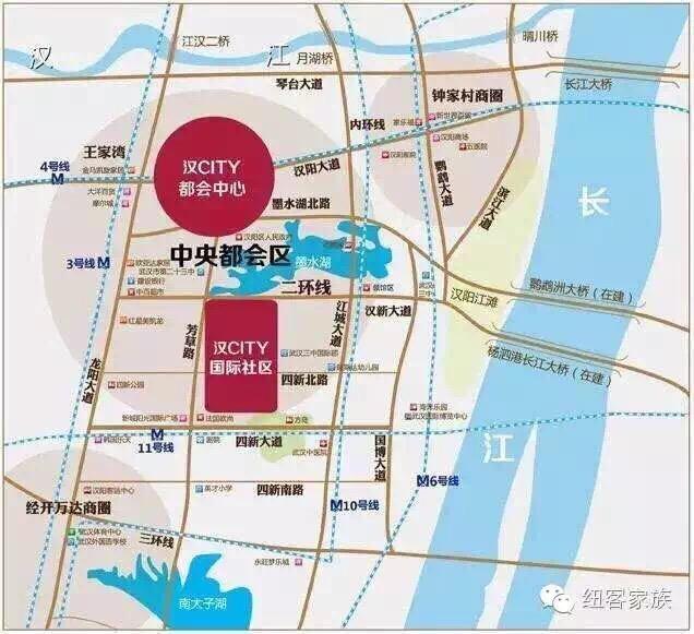 纽宾凯汉CITY国际社区——四新片自带三大商业体地铁刚需盘