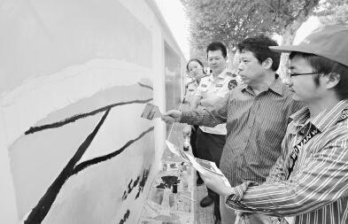 大学生志愿者共同手绘