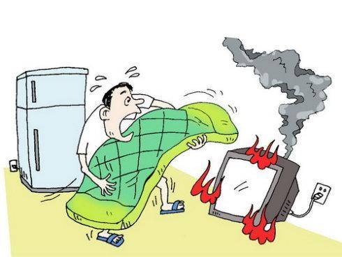 武汉消防提示:怎样预防开关,插座引起火灾图片