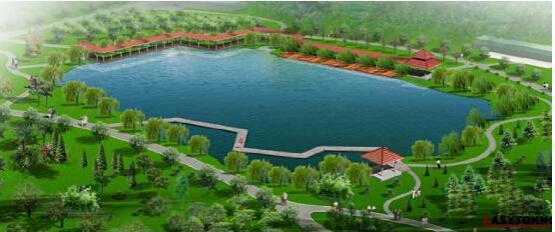 (竹叶海公园规划图)-最宜居 大江环抱森林环绕的生态宜居之城图片