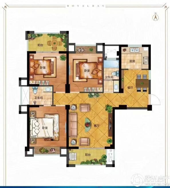 永鸿御珑湾:90-127平优质两房-三房热销