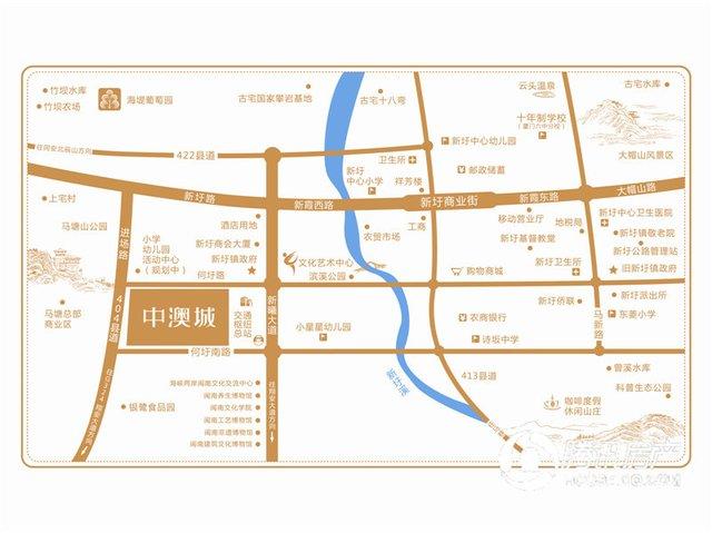 翔安文教园手绘地图