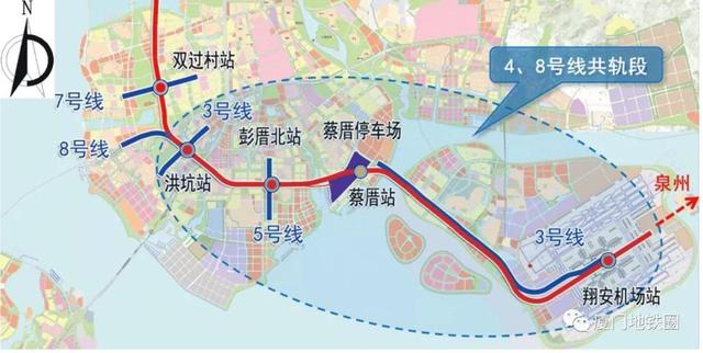 地铁8号线和4号线合修建立中 将串连海沧-本岛-翔安