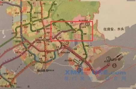 红框内疑为地铁3号线对接厦大翔安校区的路线规划.-厦门最新地铁规