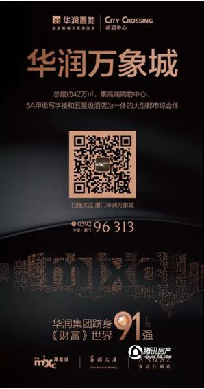 """华润万象城获""""2016厦门最值得期待新商业地标""""奖"""