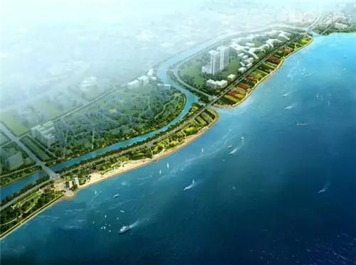 (岸线景观带俯瞰图 图片来自于网络)-春江彼岸 2017年一季度马銮湾