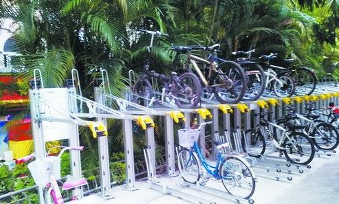 真神器 自行车也可立体停放 厦大现双层停放系统 房产厦门站 腾讯网