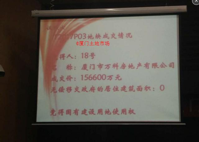 万科15.66亿竞得T2017P03地块 楼面价20113元/㎡