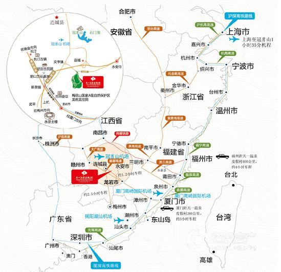 赣州到蕉岭地图