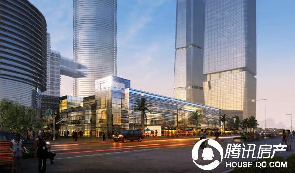 中航紫金广场新天地商业街立面效果图