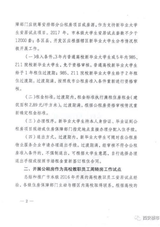 西安12000套房解决人才住房困难  租金2.89元/平方米
