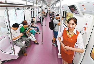 三号线试运行市民受邀体验 上天入地车游画中