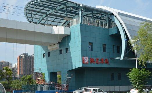 桃花潭站是往保税区站方向的第一个高架站 周边居住氛围浓厚
