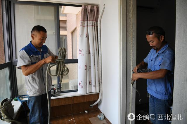 高温天兄弟两高层安空调 梦想西安买房