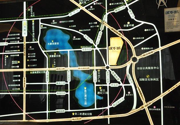 曲江汉华城区位图