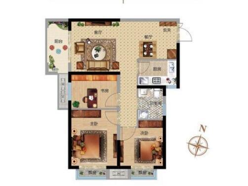 刚需89㎡小三房如何选?这些户型买了不后悔