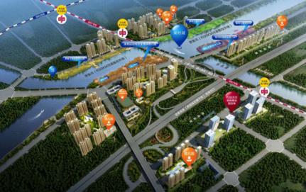 —锦艺金水湾·项目规划效果图&#8212