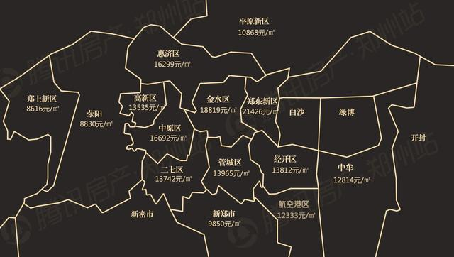 郑州最新房价地图曝光 高性价比5盘推荐有亮点