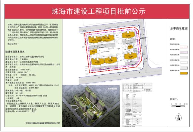 珠海仁恒在香洲区新增住宅!项目已获批前公示
