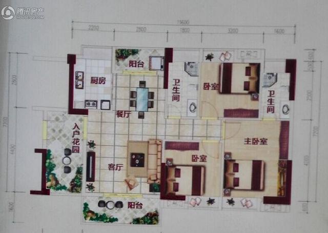 集美雅苑117平3+1户型 舒适空间唯你专属