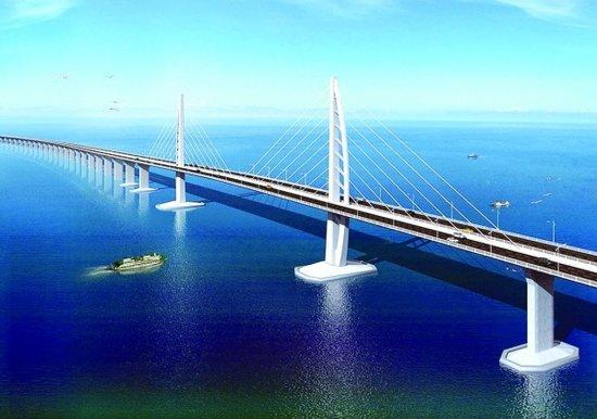 珠港澳大桥效果图图片