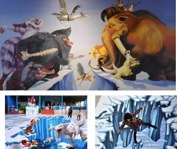 1 冰河世纪主题3d立体画
