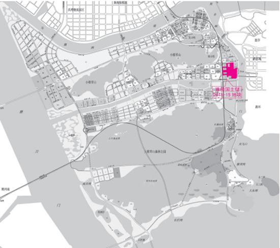 珠海总价地王诞生 大横琴54.88亿竞得横琴口岸综合地图片