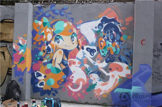 金嘉创意谷涂鸦活动再次开启 300米涂鸦墙惊艳珠海图片