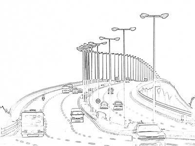 轨道交通工具手绘图