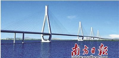 洪鹤大桥主桥12月开建 香海大桥建设规划调至30公里