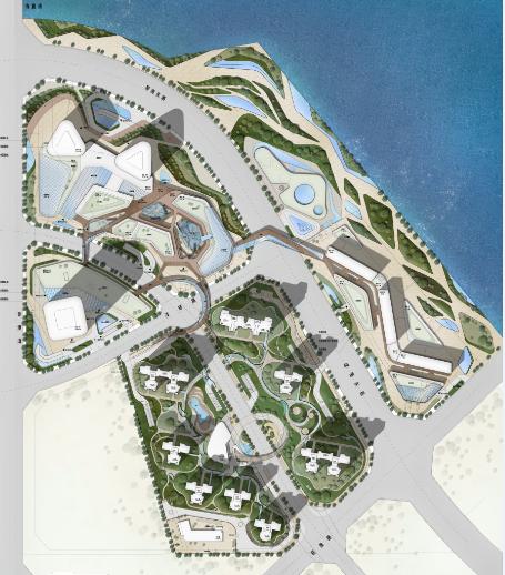 国外广场手绘平面图