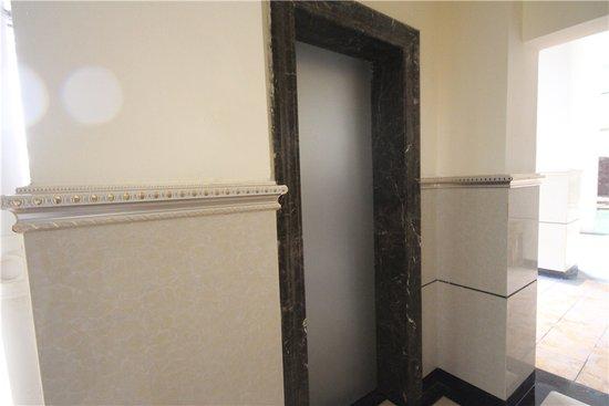 电梯门套采用欧式风格的大理石铺装,在细节上可谓匠心独运.