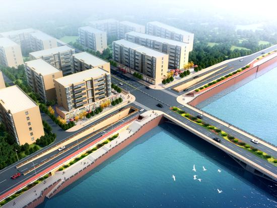 环旌湖最后一公里德阳东桥下穿时候完建筑天公司规划设计作广州图片