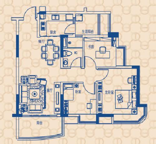 南北朝南,面积对流,★性价比高,赠送超多居室★多飘窗设计,通风酒柜小型家庭设计图图片