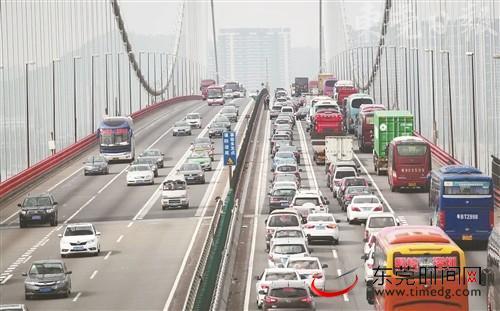 本月起虎门大桥多路段限速大调整
